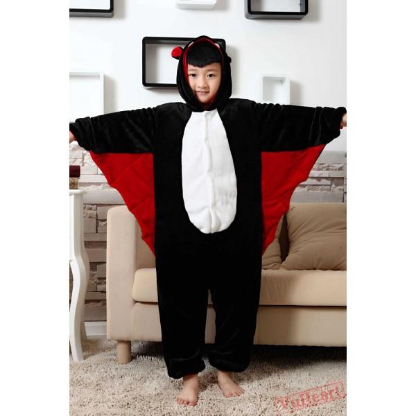 Bat Kigurumi Onesies Pajamas Costumes for Boys & Girls Winter
