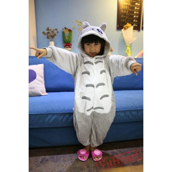Gray Blink Totoro Kigurumi Onesies Pajamas Costumes for Boys & Girls