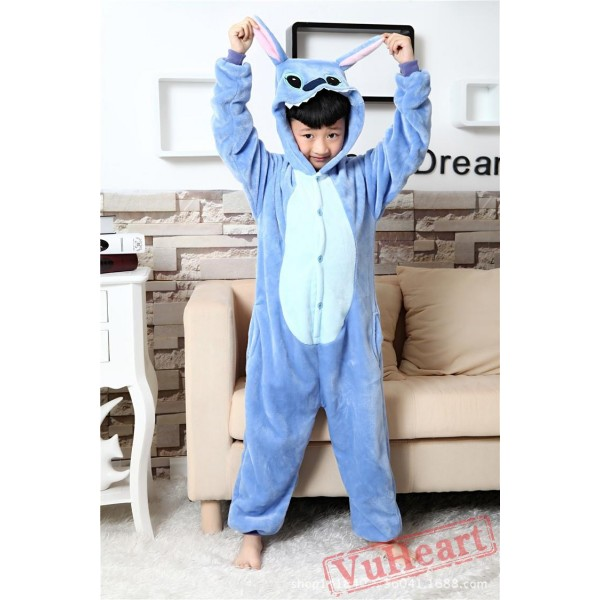 Blue Stitch Kigurumi Onesies Pajamas Costumes for Boys & Girls