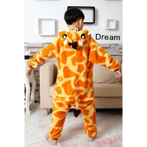 Giraffe Kigurumi Onesies Pajamas Costumes for Boys & Girls