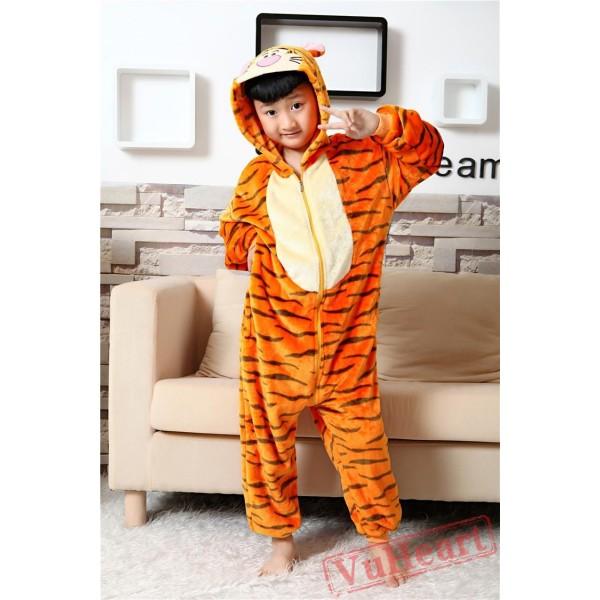Tigger Kigurumi Onesies Pajamas Costumes for Boys & Girls Winter