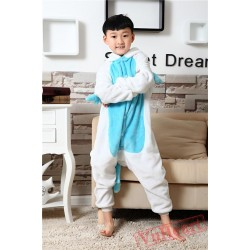 Blue Unicorn Kigurumi Onesies Pajamas Costumes for Boys & Girls Winter