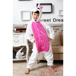 Pink Unicorn Kigurumi Onesies Pajamas Costumes for Boys & Girls Winter