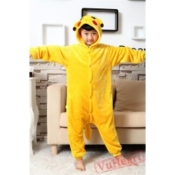 Pikachu Warm Kigurumi Onesies Pajamas Costumes for Boys & Girls