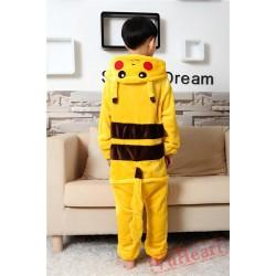 Pikachu Warm Kigurumi Onesies Pajamas Costumes for Boys & Girls