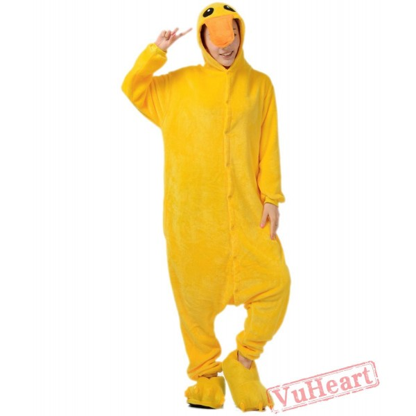 Yellow Duck Kigurumi Onesies Pajamas Costumes for Women & Men