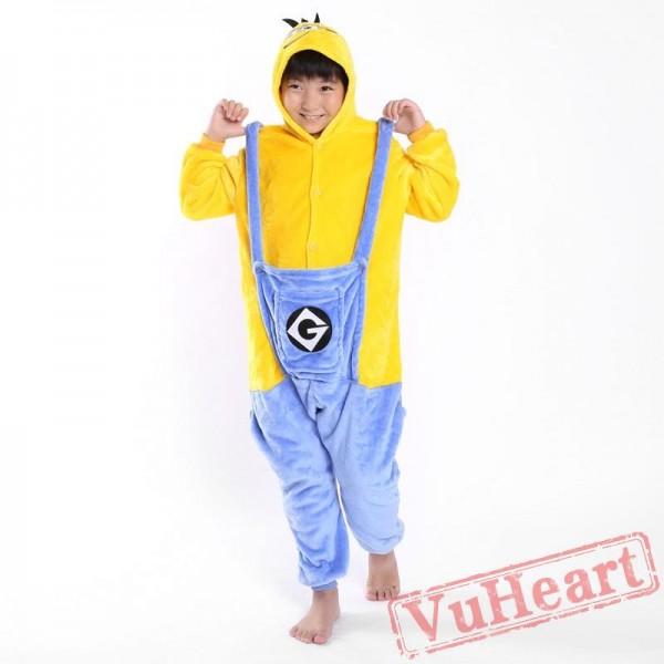 Minions Winter Kigurumi Onesies Pajamas Costumes for Boys & Girls