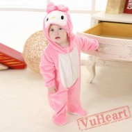 Rabbit Bunny Pink Kigurumi Onesies Pajamas Costumes for Baby