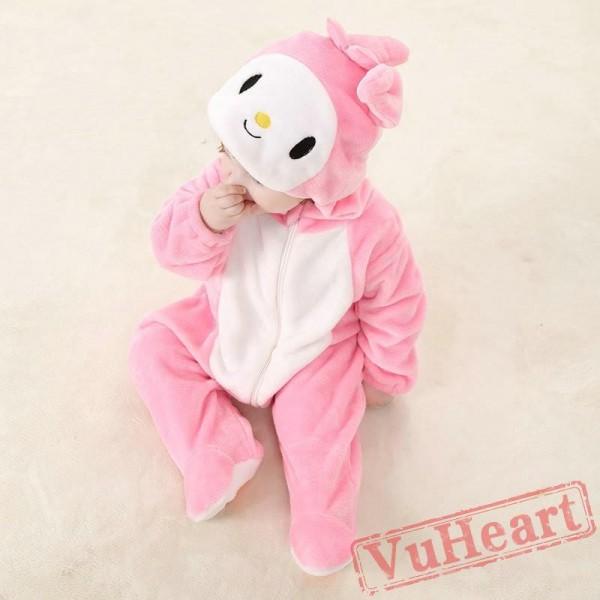 Rabbit Bunny Pink Kigurumi Onesies Pajamas Costumes for Baby