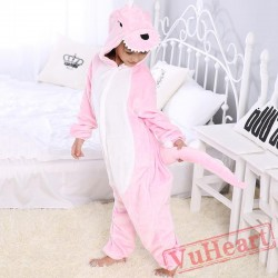 Pink Dinosaur Kigurumi Onesies Pajamas Costumes for Boys & Girls