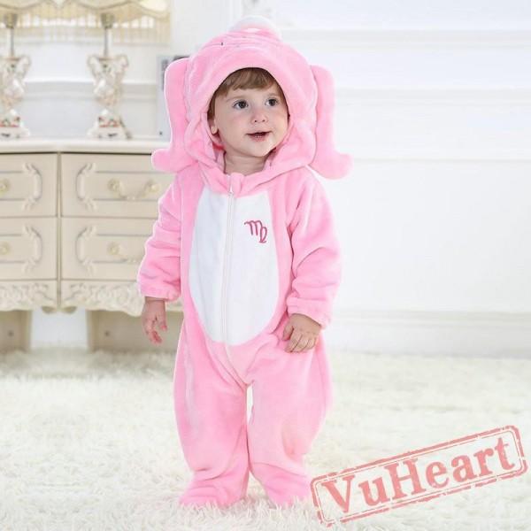 Pink Virgo Zodiac Sign Kigurumi Onesies Pajamas Costumes Toddler Pajamas for Baby