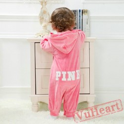 Pink Kigurumi Onesies Pajamas Costumes Toddler Pajamas for Baby Winter