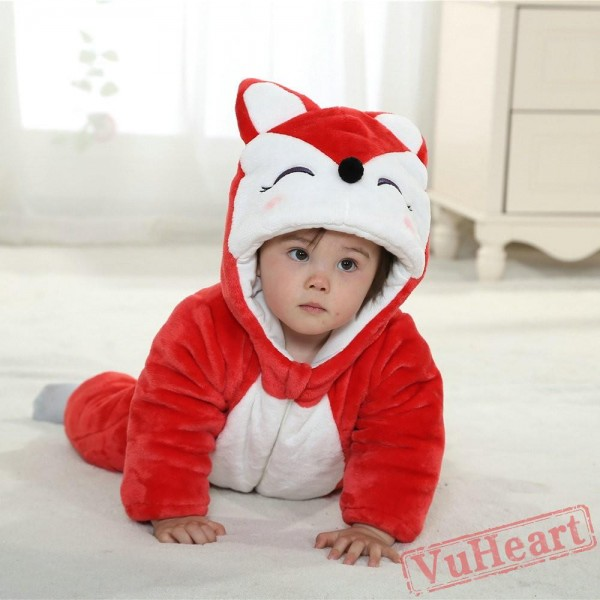Red Fox Kigurumi Onesies Winter Pajamas for Baby