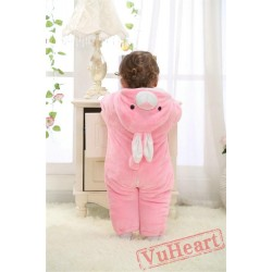 Pink Rabbit Kigurumi Onesies Pajamas Costumes Winter Pajamas for Baby