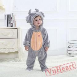 Scorpio Grey Zodiac Kigurumi Onesies Pajamas Costumes Toddler Pajamas for Baby