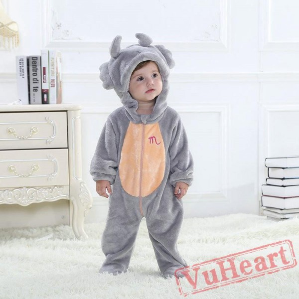 Scorpio Grey Zodiac Kigurumi Onesies Pajamas Costumes Toddler Pajamas for Baby