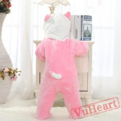 Pink Cat Kitty Kigurumi Onesies Pajamas Costumes Cartoon Pajamas for Baby