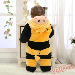 Yellow Bee Kigurumi Onesies Pajamas Costumes Winter Pajamas for Baby