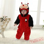 Red Ladybird Kigurumi Onesies Pajamas Costumes Winter Pajamas for Baby