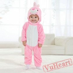 Pink Bunny Kigurumi Onesies Pajamas Costumes Spring Pajamas for Baby