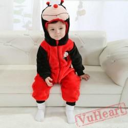 Red Ladybird Kigurumi Onesies Pajamas Costumes Spring Pajamas for Baby