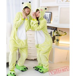 Green Frog Couple Onesies / Pajamas / Costumes