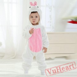 White Bunny Kigurumi Onesies Pajamas Costumes Toddler Pajamas for Baby
