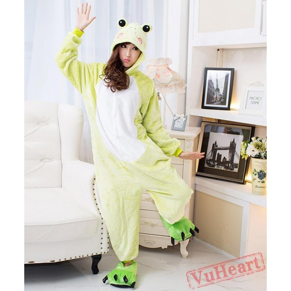 Green Frog Couple Onesies / Pajamas / Costumes