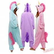 Blue Unicorn Kigurumi Onesies Pajamas & Costumes for Women & Men