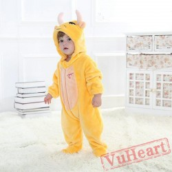 Taurus Yellow Cow Zodiac Kigurumi Onesies Pajamas Costumes Toddler Pajamas for Baby