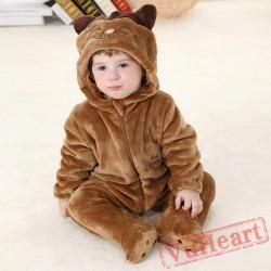 Brown Cat Kigurumi Onesies Pajamas Costumes Spring Pajamas for Baby