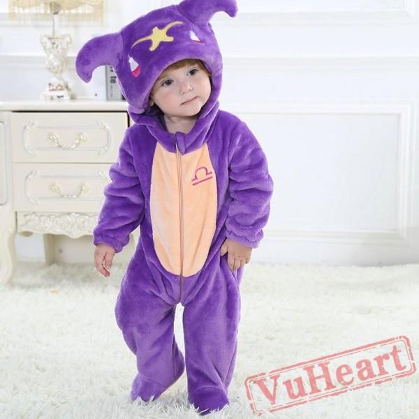 Libra Zodiac Sign Purple Kigurumi Onesies Pajamas Costumes Toddler Pajamas for Baby