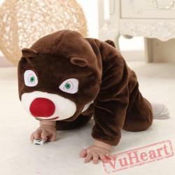 Brown Bear Kigurumi Onesies Pajamas Costumes Toddler Onesies for Baby