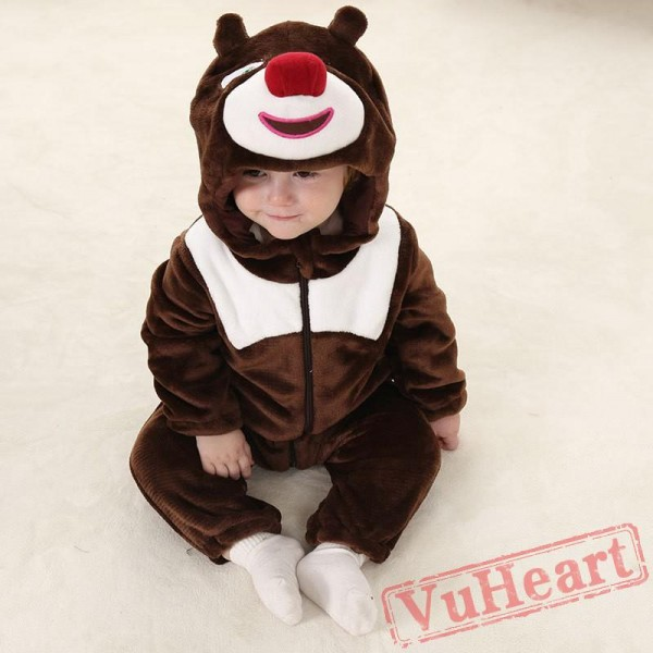 Brown Bear Kigurumi Onesies Pajamas Costumes Toddler Onesies for Baby