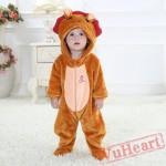Leo Zodiac Kigurumi Onesies Pajamas Costumes Toddler Pajamas for Baby