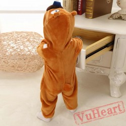 Bramble Khaki Bear Kigurumi Onesies Pajamas Costumes Toddler Pajamas for Baby