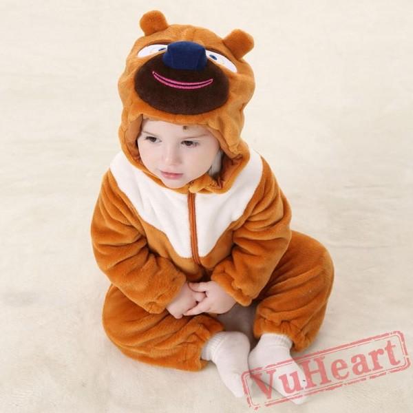 Bramble Khaki Bear Kigurumi Onesies Pajamas Costumes Toddler Pajamas for Baby