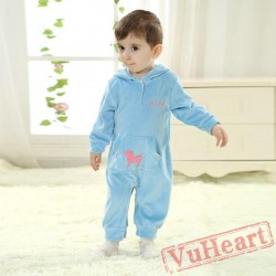 Blue Kigurumi Onesies Pajamas Costumes Toddler Pajamas for Baby