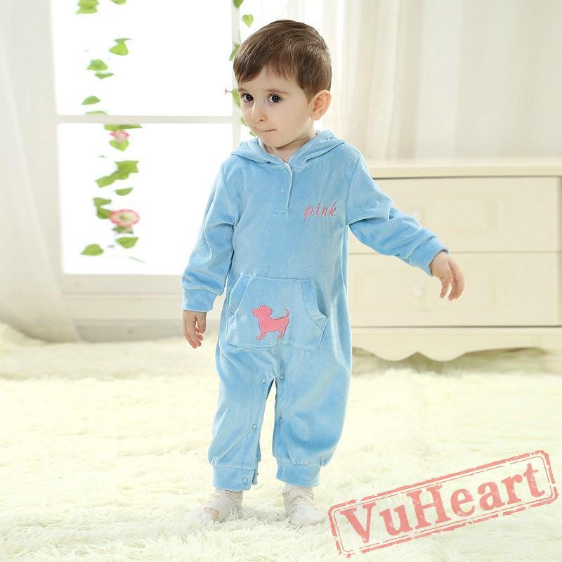 5a6965aa07fb Baby Blue Kigurumi Onesies Pajamas Costumes Toddler Pajamas