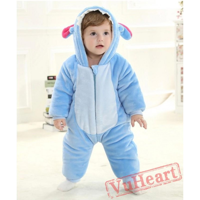 25271f376 Blue Stitch Kigurumi Onesies Pajamas Costumes Spring Pajamas for Baby