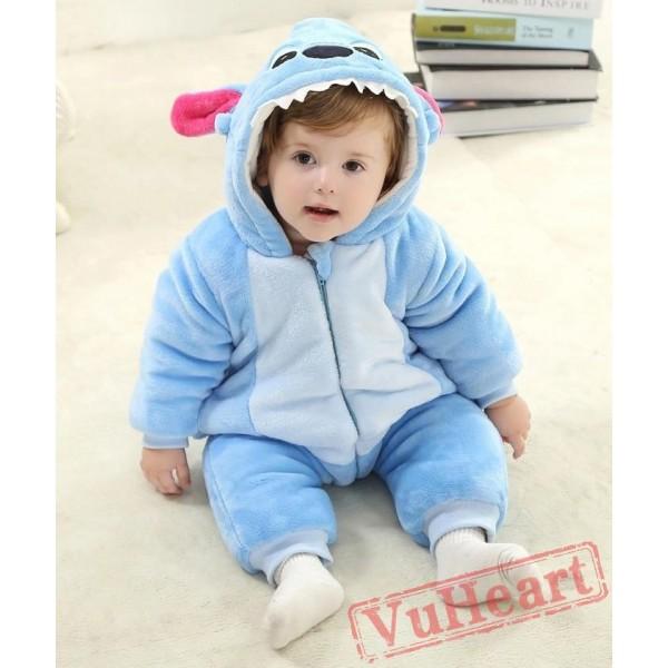 Blue Stitch Kigurumi Onesies Pajamas Costumes Spring Pajamas for Baby