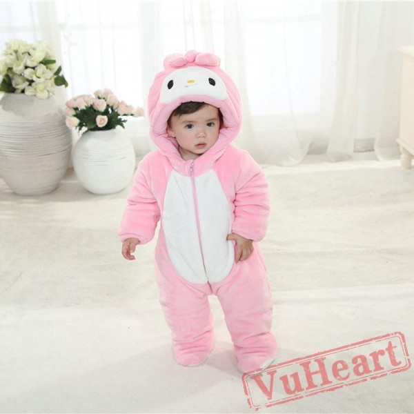 Bunny Rabbit Carrot Cartoon Kigurumi Onesies Pajamas Costumes Winter for Baby
