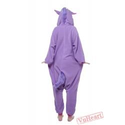 Purple Unicorn Kigurumi Onesies Pajamas Costumes for Women & Men