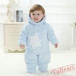 Blue Bear Kigurumi Onesies Pajamas Costumes Toddler Pajamas for Baby
