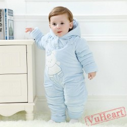 Blue Bear Kigurumi Onesies Pajamas Costumes Toddler Pajamas for Baby