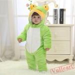 Green Frog Kigurumi Onesies Pajamas Costumes Winter Pajamas for Baby