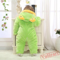 Green Frog Kigurumi Onesies Pajamas Costumes Winter Pajamas for Baby