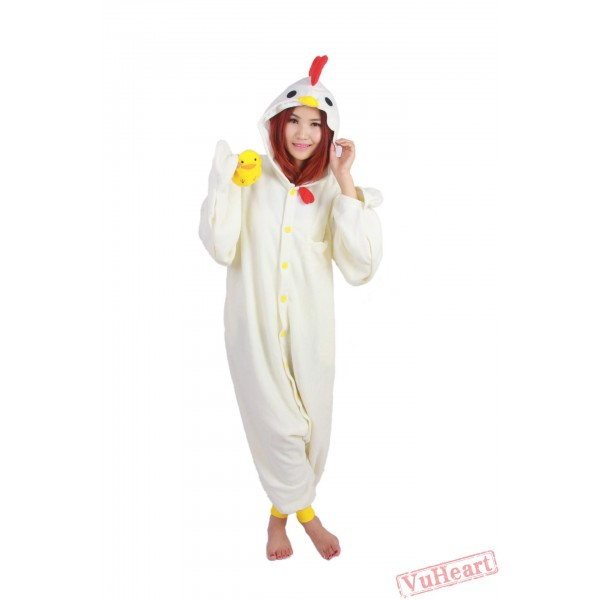White Cock Kigurumi Onesies Pajamas Costumes for Women & Men