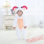Aries White Sheep Zodiac Kigurumi Onesies Pajamas Costumes Toddler Pajamas for Baby