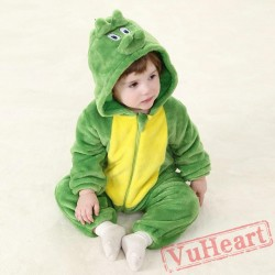 Green Dinosaur Kigurumi Onesies Pajamas Costumes Toddler Pajamas for Baby
